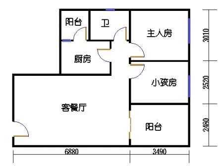 六栋B座2-28层05单元