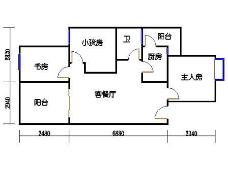 六栋B座2-28层06单元