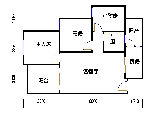 七栋C座1-28层03单元