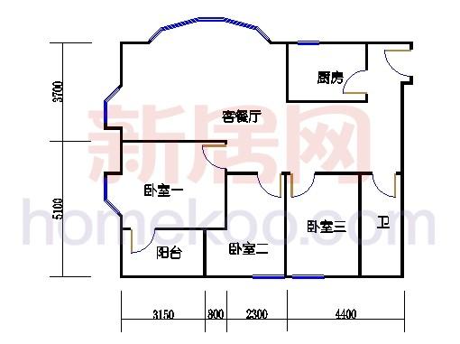 雍景、湾景-汇景31-41层C单元