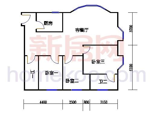 雍景、湾景-汇景31-41层D单元