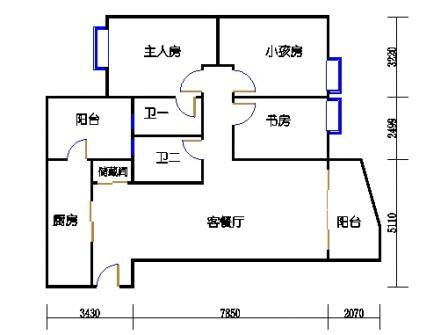 东塔3-16层03单元