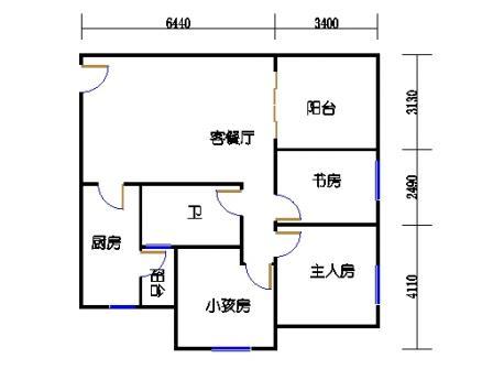 9栋C座2~28层户型01单位