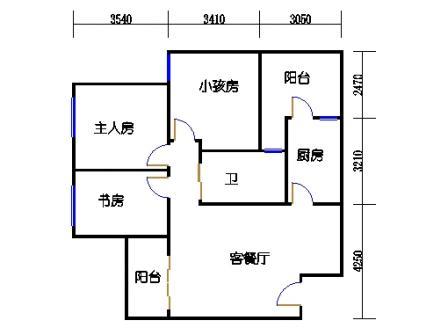 9栋C座2~28层户型02单位