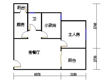 9栋C座2~28层户型07单位