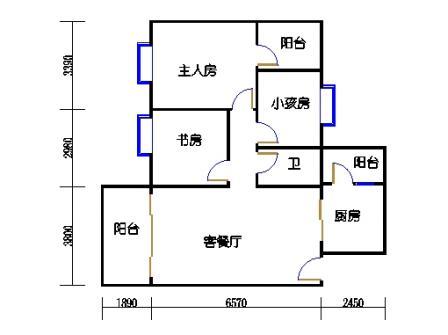 2号搂06号梯标准层04单元