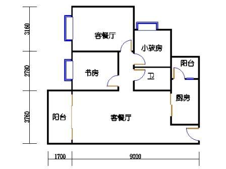 2号搂10号梯标准层05单元