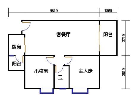 2号搂10号梯标准层06单元