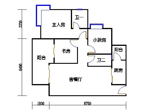 1栋5-10层05单元