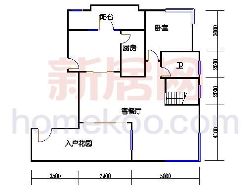 A型蝶式别墅下层01