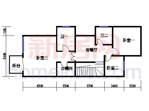 B1型山水别墅二层01单位