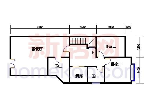 B2型山水别墅二层01单位