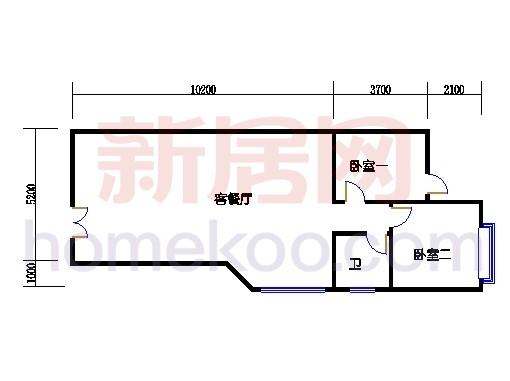 B2型山水别墅一层02单位