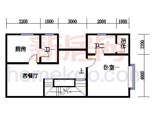 B5型山水别墅二层01单位