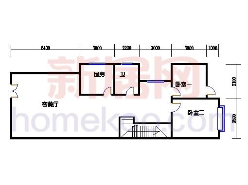 B5型山水别墅一层01单位