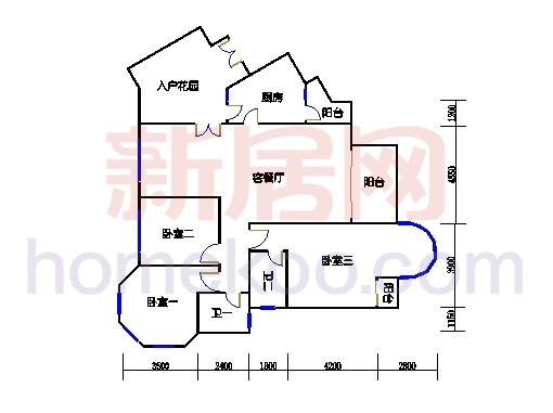 扩拼洋房五座4-7层01单位