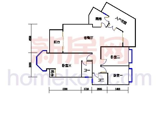 扩拼洋房五座4-7层04单位