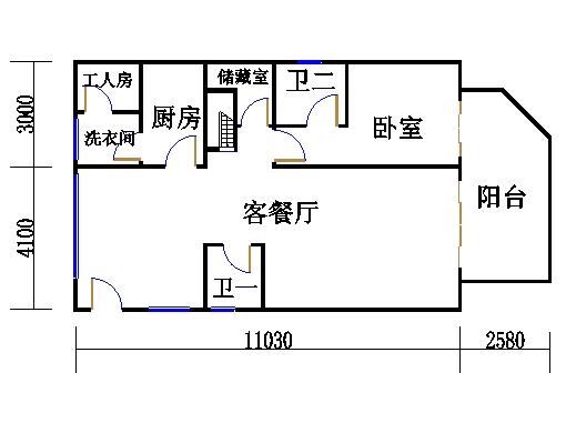 雍景阁01单元户一层
