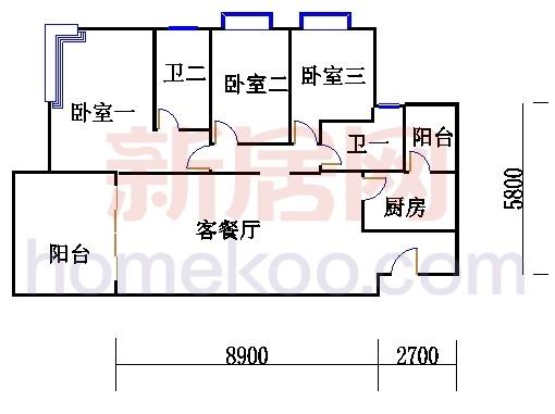 B1(6-25层)02单位