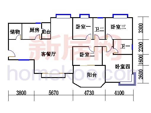 B1(6-25层)06单位