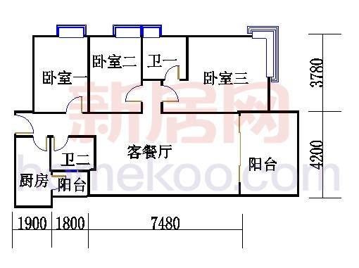 B2(6-25层)04单位