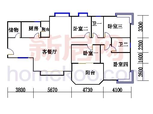 B2(6-25层)06单位