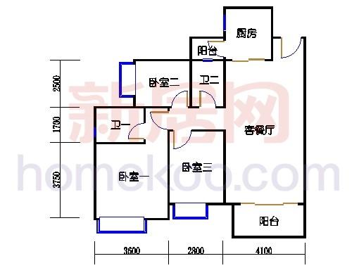 2D-13栋3至12层平面图02