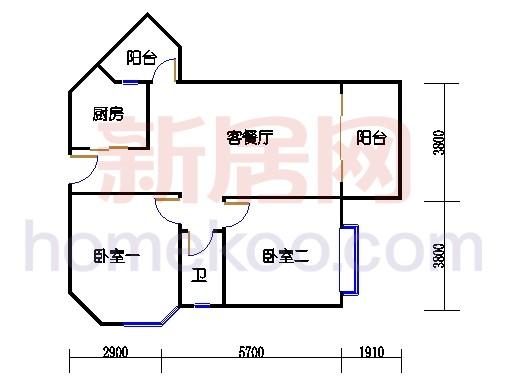 5栋2梯二层202单位
