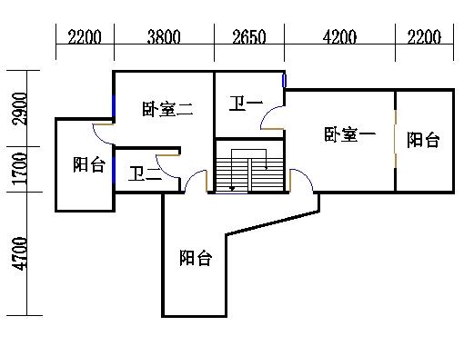 A2型复式洋房上层