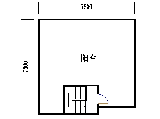 A2型复式洋房天台层