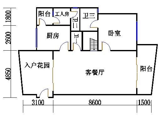 A2型复式洋房下层