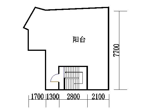 B2型复式洋房天台层