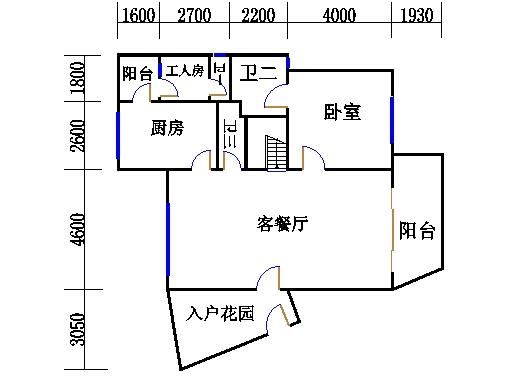 B型复式洋房下层