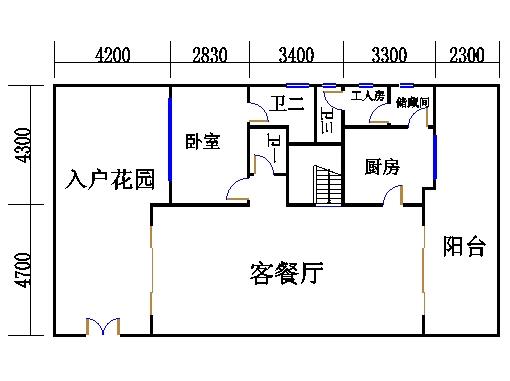 D1型复式洋房地面