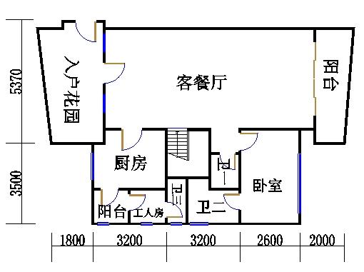 D型复式洋房下层