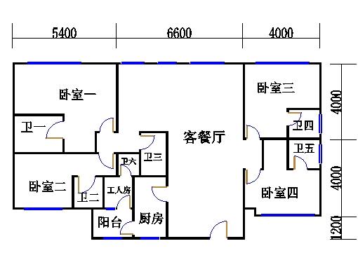 E1型双连洋房地面