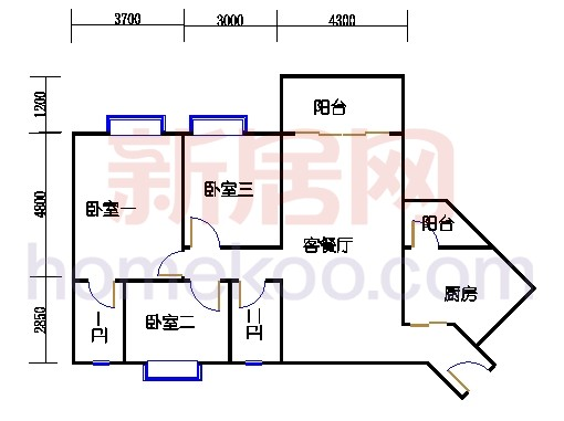 5栋2梯标准层03单位