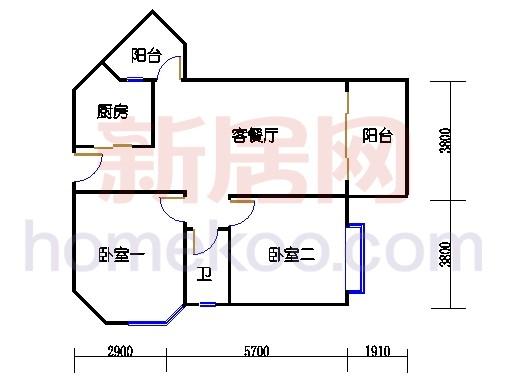 5栋1梯标准层01单位