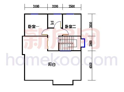 E1型别墅二楼