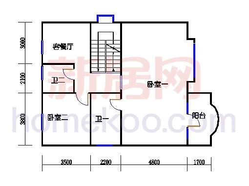 E1型别墅一楼