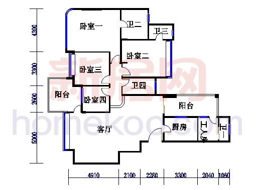 上善1,2,3,5,6,8栋4-8层A型02单元