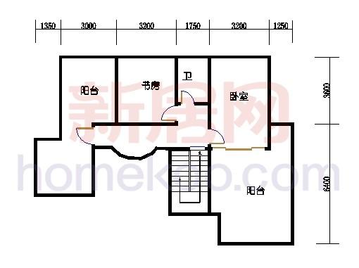 壅华廷35栋复式02房上层