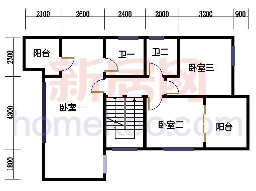 D型别墅二层