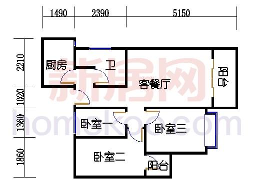 倚云轩A2栋4-17层3
