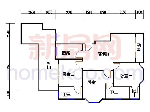 富丽园第六栋二层F201