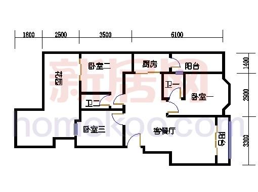 富丽园第六栋二层F202