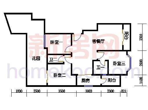 富丽园第六栋二层F203
