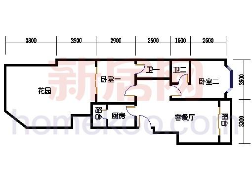富丽园第六栋二层F205