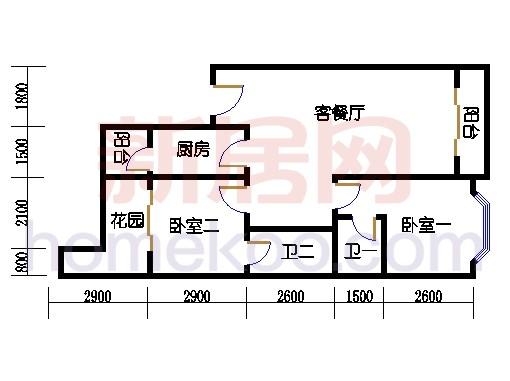 富丽园第六栋二层F206