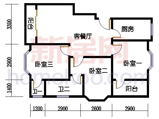 富丽园第六栋三至七层F302